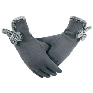 Fireflyhome Women's Winter Screentouch Thick Warm Weather Gloves